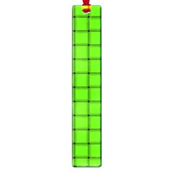 Bright Green Weave Large Bookmark