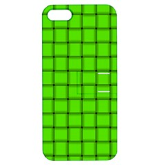 Bright Green Weave Apple Iphone 5 Hardshell Case With Stand