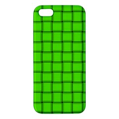 Bright Green Weave iPhone 5 Premium Hardshell Case