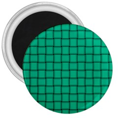 Caribbean Green Weave 3  Button Magnet