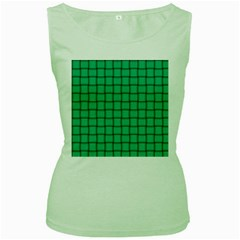 Caribbean Green Weave Womens  Tank Top (green)
