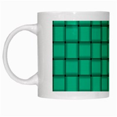 Caribbean Green Weave White Coffee Mug