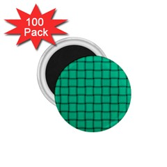 Caribbean Green Weave 1 75  Button Magnet (100 Pack)