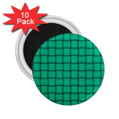 Caribbean Green Weave 2.25  Button Magnet (10 pack)