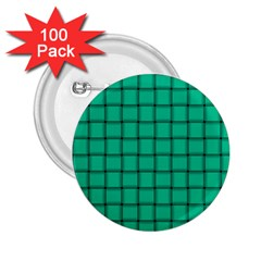 Caribbean Green Weave 2.25  Button (100 pack)