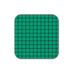 Caribbean Green Weave Drink Coaster (square)