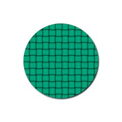 Caribbean Green Weave Drink Coaster (Round)