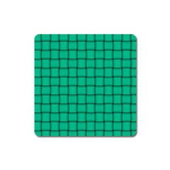 Caribbean Green Weave Magnet (square)