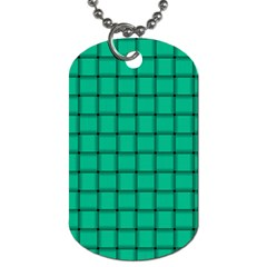 Caribbean Green Weave Dog Tag (One Sided)
