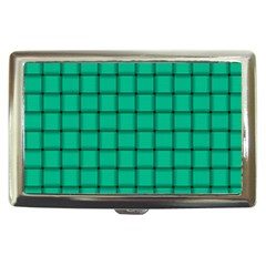 Caribbean Green Weave Cigarette Money Case