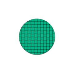 Caribbean Green Weave Golf Ball Marker