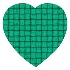 Caribbean Green Weave Jigsaw Puzzle (Heart)