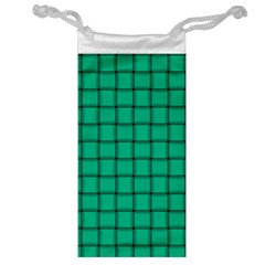Caribbean Green Weave Jewelry Bag
