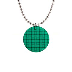 Caribbean Green Weave Button Necklace