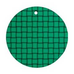 Caribbean Green Weave Round Ornament (Two Sides)