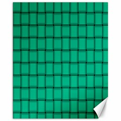 Caribbean Green Weave Canvas 16  x 20  (Unframed)