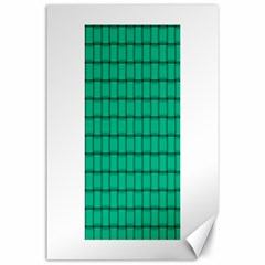 Caribbean Green Weave Canvas 24  X 36  (unframed)