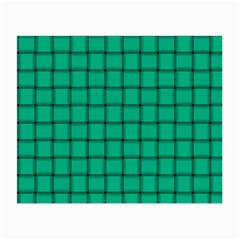 Caribbean Green Weave Glasses Cloth (Small, Two Sided)