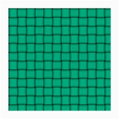 Caribbean Green Weave Glasses Cloth (medium, Two Sided)