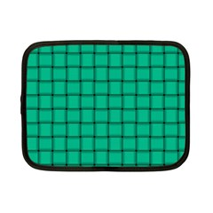 Caribbean Green Weave Netbook Case (Small)