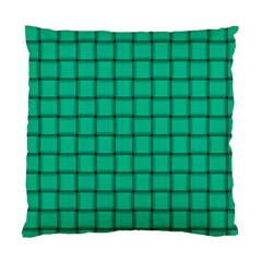 Caribbean Green Weave Cushion Case (One Side)
