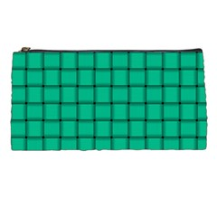Caribbean Green Weave Pencil Case