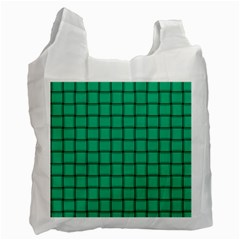 Caribbean Green Weave Recycle Bag (One Side)