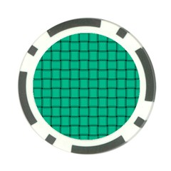 Caribbean Green Weave Poker Chip 10 Pack