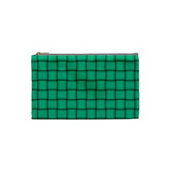 Caribbean Green Weave Cosmetic Bag (Small)