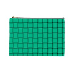 Caribbean Green Weave Cosmetic Bag (Large)