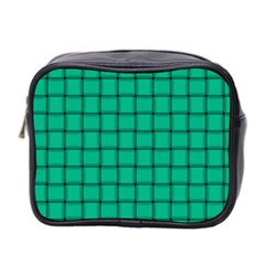 Caribbean Green Weave Mini Travel Toiletry Bag (two Sides)