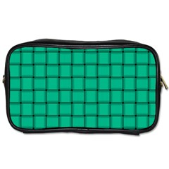 Caribbean Green Weave Travel Toiletry Bag (One Side)