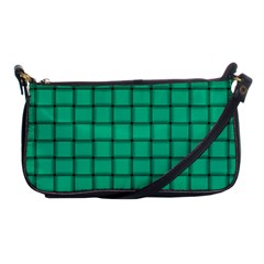 Caribbean Green Weave Evening Bag