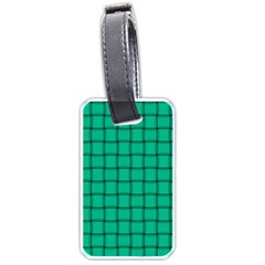 Caribbean Green Weave Luggage Tag (One Side)