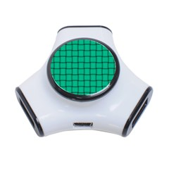 Caribbean Green Weave 3 Port Usb Hub