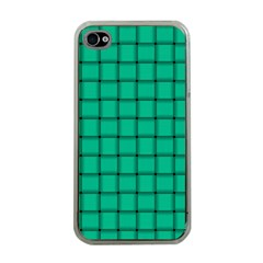 Caribbean Green Weave Apple iPhone 4 Case (Clear)