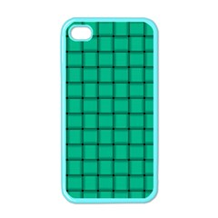 Caribbean Green Weave Apple iPhone 4 Case (Color)