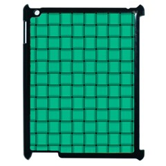 Caribbean Green Weave Apple iPad 2 Case (Black)