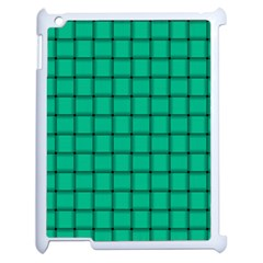 Caribbean Green Weave Apple Ipad 2 Case (white)