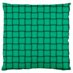 Caribbean Green Weave Large Cushion Case (One Side)
