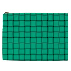 Caribbean Green Weave Cosmetic Bag (XXL)