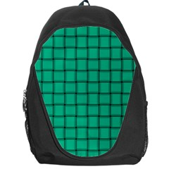 Caribbean Green Weave Backpack Bag