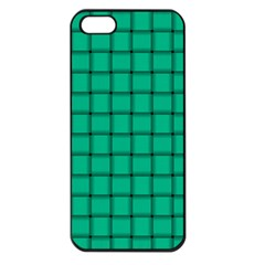 Caribbean Green Weave Apple iPhone 5 Seamless Case (Black)