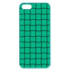 Caribbean Green Weave Apple Seamless Iphone 5 Case (color)