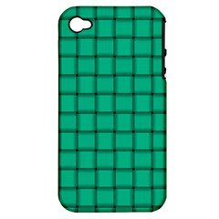 Caribbean Green Weave Apple Iphone 4/4s Hardshell Case (pc+silicone)