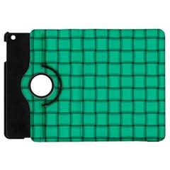 Caribbean Green Weave Apple iPad Mini Flip 360 Case