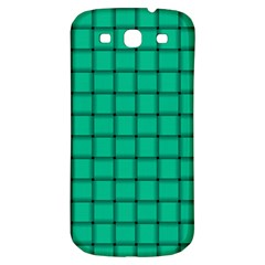 Caribbean Green Weave Samsung Galaxy S3 S Iii Classic Hardshell Back Case