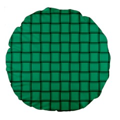 Caribbean Green Weave 18  Premium Round Cushion
