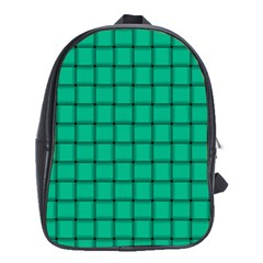 Caribbean Green Weave School Bag (xl)