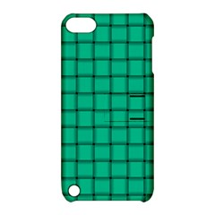 Caribbean Green Weave Apple Ipod Touch 5 Hardshell Case With Stand